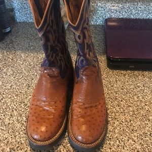 Ariat Smooth Ostrich Ladies cowboy boots